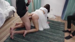 Szexi menyasszonyt nagy farkú pasi dugja